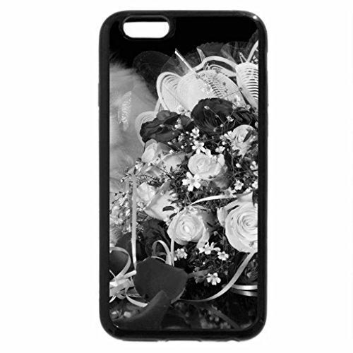 iPhone 6S Plus Case, iPhone 6 Plus Case (Black & White) - Rose n'Kitty
