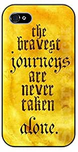 iPhone 5 / 5s The bravest journeys are never taken alone - black plastic case / Walt Disney And Life Quotes