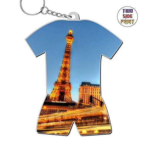 Custom Keychain Man Made Paris Keyring World Cup Polo Shirt Logo Key Ring Key Fob Alloy Nice Gift