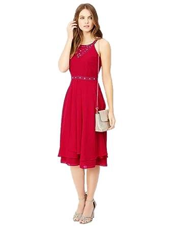 ef40ba799d Monsoon Evening Dress PINK ADORA BRIDESMAID Dress UK 16  Amazon.co ...