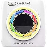TEEPAO [versión de 300 DPI] Impresora de bolsillo P2 portátil, inalámbrica, Bluetooth, papel fotográfico, impresión térmica con 10 rollos de papel de impresión, impresora móvil instantánea para dispositivos iOS/Android