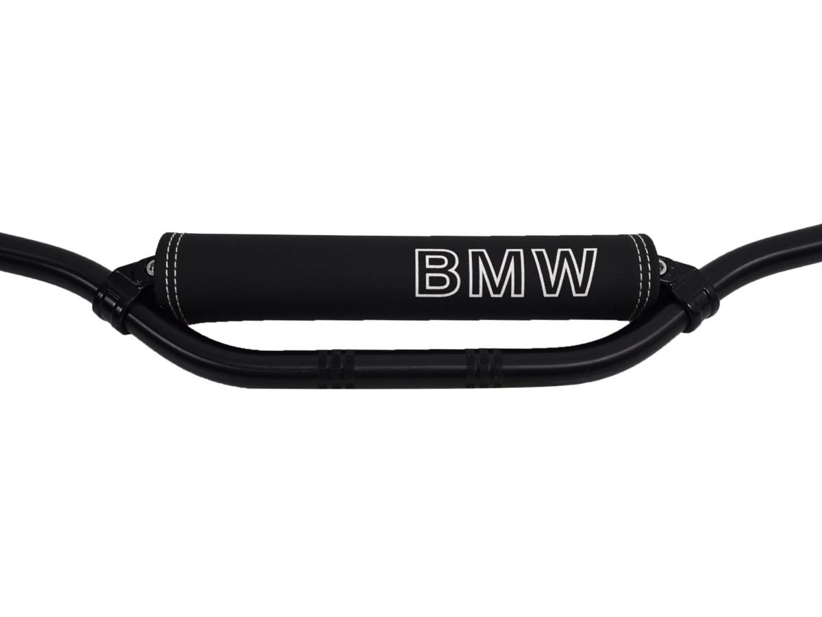 Protector manillar para modelos BMW logotipo blanco