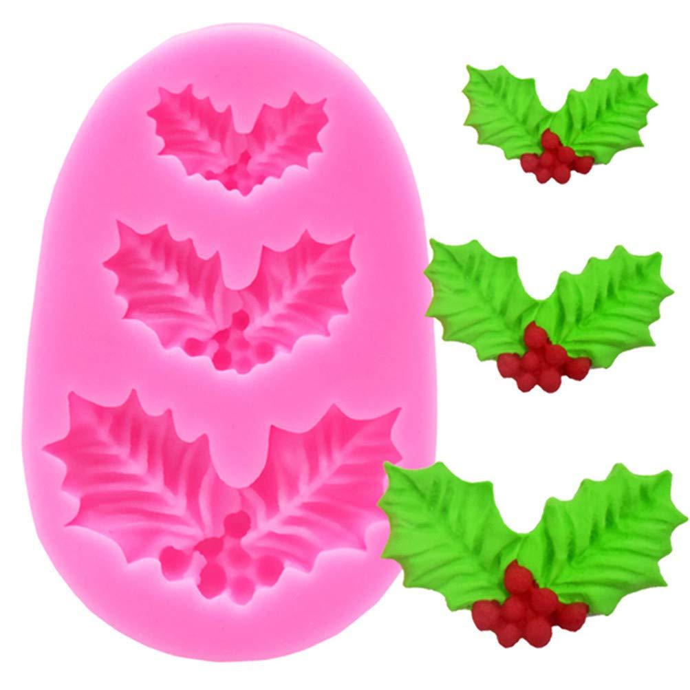 Flybloom Fondant Kuchen Silikon Form Weihnachtsbl/ätter F/ür Schokoladen K/üchen Dekorations Werkzeuge