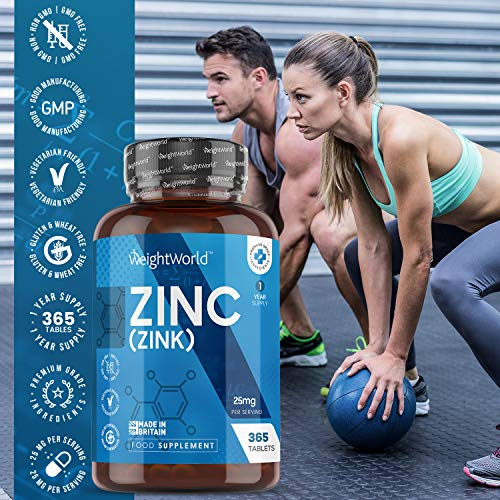 Zinc-Tablets-25mg-365-Tablets-1-Year-Supply-Pure-Zinc-Health-Supplement-for-Immune-System-Hair-Growth-Nails-Bone-Skin-Metabolism-Vegan-Keto-Friendly-Gluten-Free-Mineral-Tablets