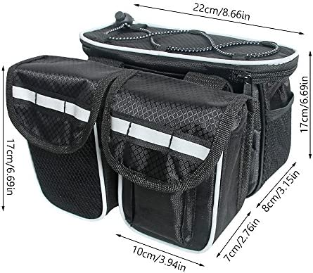Amazon.com : Meanhoo Bicycle Bike Seatpost Bag Frame Pannier ...
