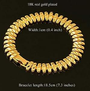 18k Real Gold Plated Stylish Chunky Bracelet for men