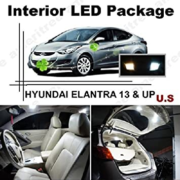 hyundai elantra 2013 white. elantra 2013 u0026 up 8 pcs xenon white led lights interior package and hyundai