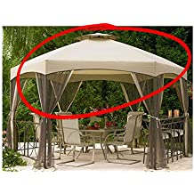 Replacement Canopy for Jaclyn Smith Today Dutch Harbor Gazebos 7-8001237920-2, 769455755322, SS-I-138-3GZN