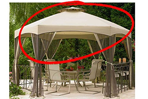 The Outdoor Patio Store Replacement Canopy for Jaclyn Smith Today Dutch Harbor Gazebos 7-8001237920-2, 769455755322, SS-I-138-3GZN For Sale