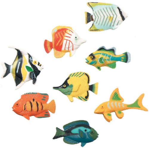 (Darice Creatures Inc Plastic Creatures: Tropical Fish 14/Pkg)