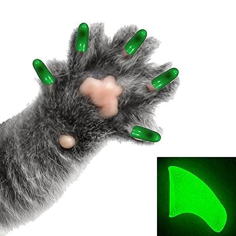 Purrdy Paws Paquete de 40 tapas de uñas suaves para gatos y garras en la oscuridad: Amazon.es: Productos para mascotas