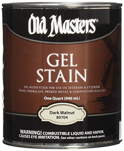 Old Masters 24991 80704 Gel Stain, Dark Walnut, 1 (Walnut Gel Stain)