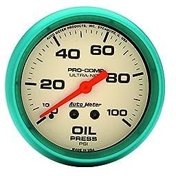 Auto Meter 4521 Ultra-Nite Oil Pressure Gauge
