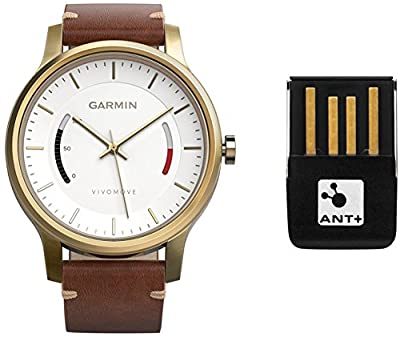 Garmin Vivomove Classic - Rose Gold-Tone with Leather Band by Garmin