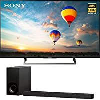 Sony XBR55X800E 55 16:9 4K HDR Edge Lit LED UHD LCD Android TV with Google Home Compatibility 3840x2160 & Sony HTZ9F 3.1Ch 4K HDR Compatible Dolby Atmos Soundbar with Built-in WiFi & Bluetooth