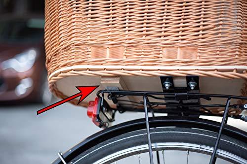 51I8NQiWKYL Tigana Hundefahrradkorb für Gepäckträger aus Weide Natur 60 x 39 cm Gitter Tierkorb Hinterradkorb Hundekorb für Fahrrad…