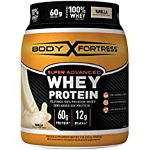 Body Fortress Super Advanced Whey Protein Powder, Great for Meal Replacement Shakes, Low Carb, Gluten Free, Vanilla, 2 lbs