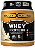Body Fortress Super Advanced Whey Protein Powder, Gluten Free, Vanilla, 2 lbs