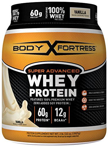 Body Fortress Super Advanced Whey Protein Powder, Vanilla, 2 (Flavored Vanilla Body Powder)