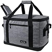 Hap Tim Soft Cooler Bag 40 Can Large Reusable Grocery Bags Soft Sided Collapsible Travel Cooler For Outdoor Travel Hiking Beach Picnic Bbq Party (SG-13634-G)