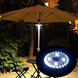 (Upgraded) Battery Powered Patio Umbrella Light, Cordless Umbrella Pole Light with 3 Dimmable Brightness Modes,24 LEDS at Max 300 Lumens for Patio Umbrella, Camping and Outdoor Use