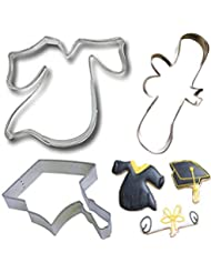 Mini Cookie Cutter Set Graduation Cookie Cutters-3pack