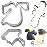 #9: Mini Cookie Cutter Set Graduation Cookie Cutters-3pack