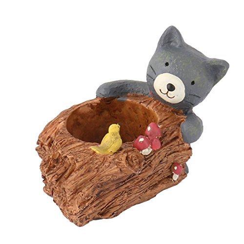 eDealMax résine Cat Forme Jardin Bureau bricolage Aménagement paysager usine Pot de Fleurs colorées