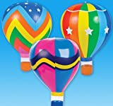22'' RAINBOW HOT AIR BALLOONS, Case of 36