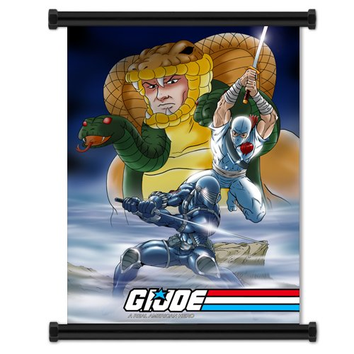 GI JOE: A Real American Hero Cartoon Snake Eyes & Stormshadow Fabric Wall Scroll Poster (32
