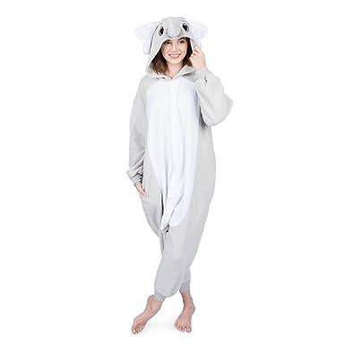 Emolly Fashion Disfraz de Elefante de Animal para Adultos Pijama ...