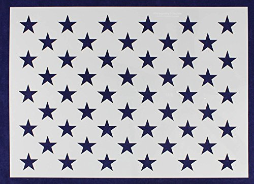 14'' x 19.76'' G-Spec 50 Star Field Stencil -14 Mil -Painting /Crafts/ Templates by TCR Templates
