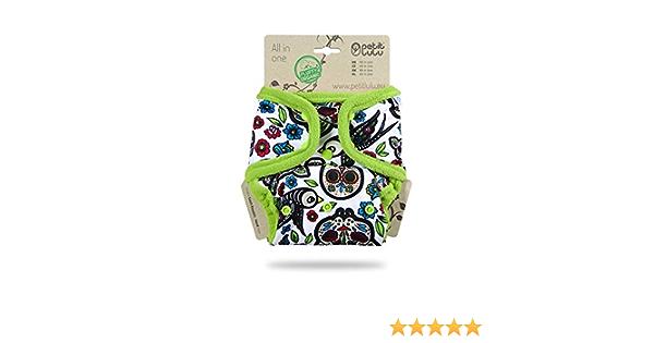 Reutilizable y lavable Hecho en Europa Pa/ñal de bolsillo todo en uno Org/ánico esponjoso broches AIO en blanco cr/áneos mexicanos Petit Lulu
