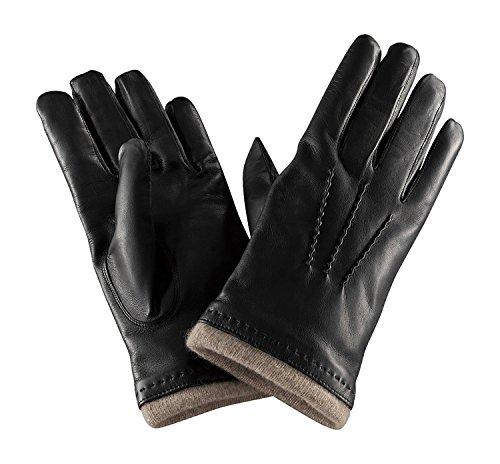 熱心な代替案イサカCARIDEI イタリア製 ラムスキン カシミヤ100% グローブ / 手袋