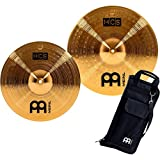 Meinl Cymbals HCS-C2 Double Crash Pack Including 14-inch and 16-inch Crash Cymbals with FREE Drum Stick Bag