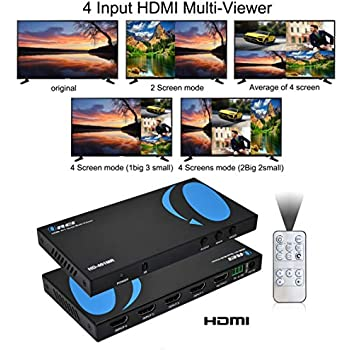 Amazon com: Crossbow 4x1 Seamless HDMI Multiviewer and