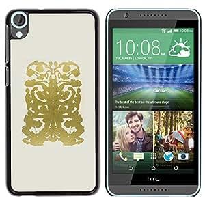 Be Good Phone Accessory // Dura Cáscara cubierta Protectora Caso Carcasa Funda de Protección para HTC Desire 820 // Gold Abstract Pattern Drawing Beige
