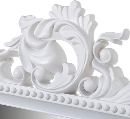 Espejo Cornucopia Blanco de Polipropileno clásico para decoración de 59 x 79 cm Fantasy - LOLAhome