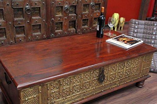 Mesa de café, Baúl, colonial, Baúl mesa, madera maciza, India, 130 ...
