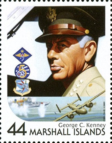General George C Kenney US Air Force - Single Postage Stamp (This is a hard to find stamp) Marshall Islands #938h (Air Force Single)