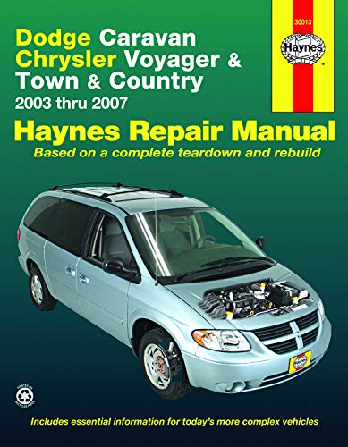 Dodge Caravan, Chrysler Voyager & Town & Country (03-07) Haynes Repair Manual (Does not include information specific to all-wheel drive or diesel engine models.) (Haynes Automotive Repair Manual)