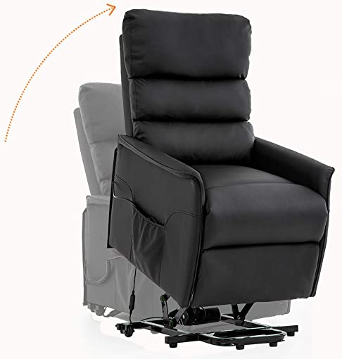 FDW Lift Chair for Elderly Recliner Power Lift Chair Recliner Clearance Electric Recliner Wall Hugger Recliner Chair with Remote Control Black
