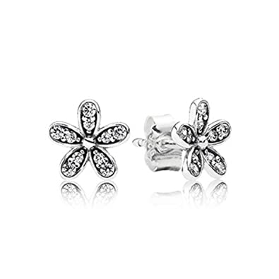5d5384405 Image Unavailable. Image not available for. Color: PANDORA DAZZLING DAISY  STUD EARRINGS 290570CZ