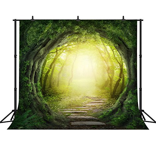(FHZON 10x10ft Dreamy Magical Backdrop Dream Beautiful Forest Photography Video Studio Photo Backdrop Props)