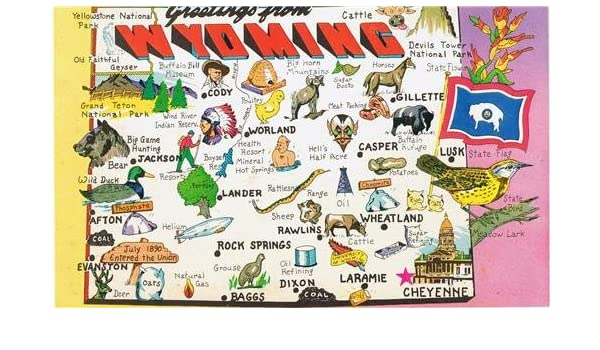 Amazon.com: FUN WYOMING STATE MAP GLOSSY POSTER PICTURE PHOTO ...