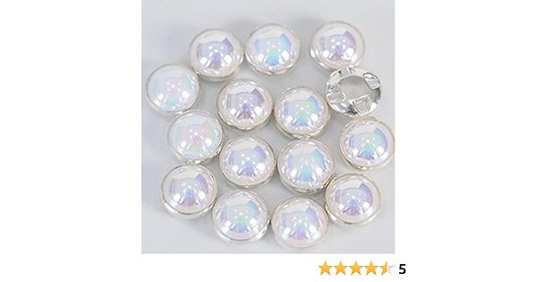 AB Silver Claw, 10MM MEYA AB Crystal Pearls Beads Silver//Gold Claw Rhinestones Round Sew On Clothing Stones