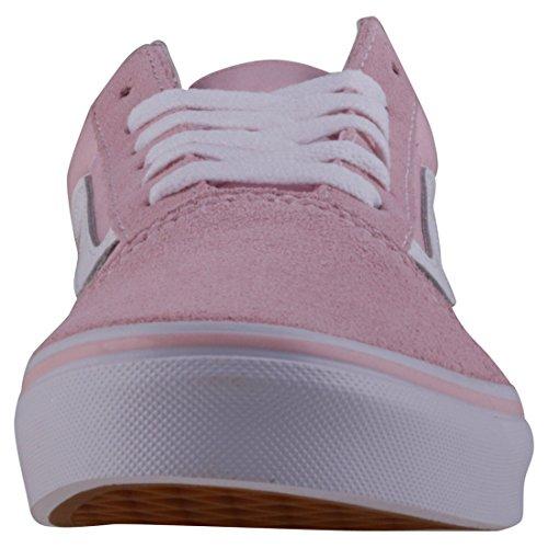 Vans Enfants Vieux Skool (c & P) Chaussure De Skate Daim Toile Craie Rose Blanc