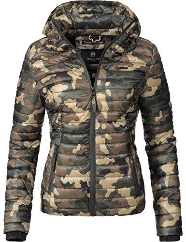 15 XS matelasse saison mi pour veste Couleurs XXL dame Samtpfote Camouflage Marikoo znw4qR0z