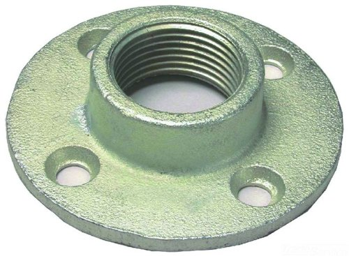 1-Inch 10-Pack L.H Threaded End Zinc Plated Dottie FF100 Floor Flange