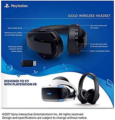 Amazon Com Sony Playstation Gold Wireless Headset 7 1 Surround Sound Ps4 New Version 2018 Electronics